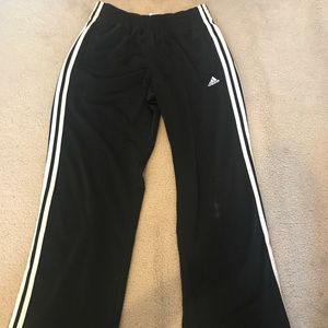 Adidas men's black side button athletic pants M